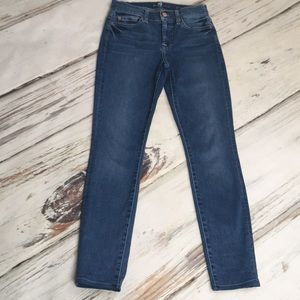 7 For All Mankind Gwenevere Skinny Jeggings 25